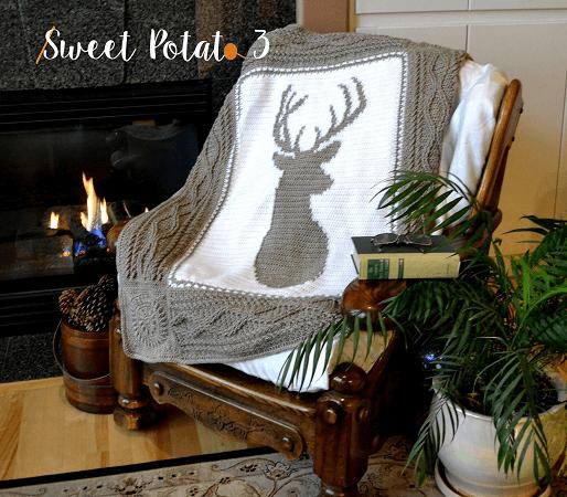 Deerly Beloved Blanket Crochet Pattern by Sweet Potato Patterns 3