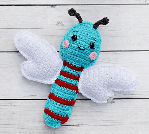 Dragonfly Amigurumi Crochet Pattern by 3am Grace Designs