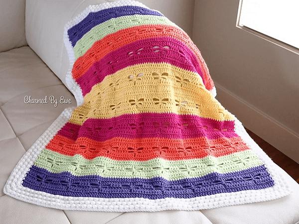 Dragonfly Blanket Crochet Pattern by Janaya Chouinard
