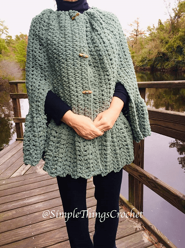 Easy Crochet Cape Pattern by Simple Things By Tia