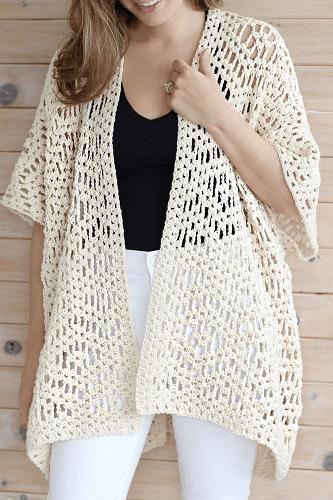 Esma Cape Crochet Pattern by Lakeside Loops