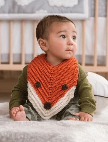 Finley, The Fox Bib Free Crochet Pattern by Petals To Picots