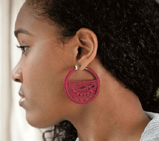 Free Crochet Earrings Pattern by Storey