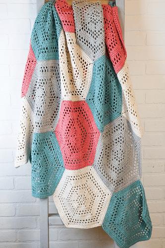 Free Crochet Hexagon Blanket Pattern by Winding Road Crochet
