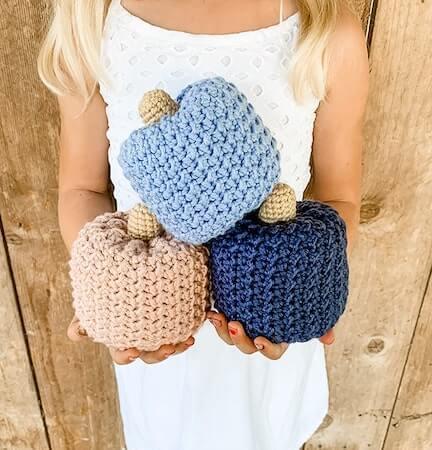 Crochet Pumpkin Pattern Free by Grace And Yarn