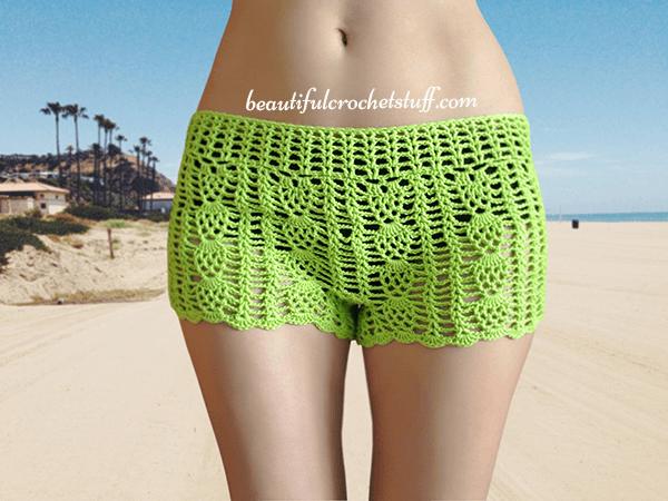 Free Crochet Shorts Pattern by Beautiful Crochet Stuff