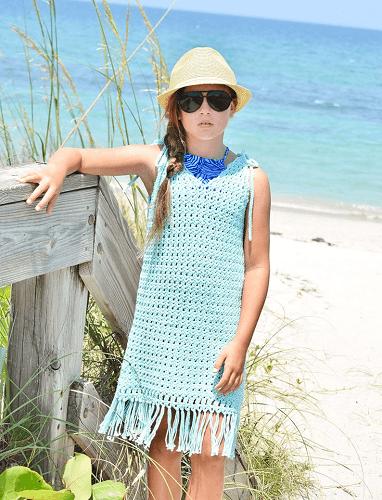 Fringe Crochet Cover Up Pattern by Crochet Garden