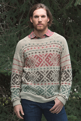 Huntsman Sweater Crochet Pattern by Natasha Robarge