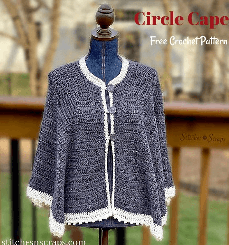 Icing On The Cape Crochet Pattern by Stitches N Scraps