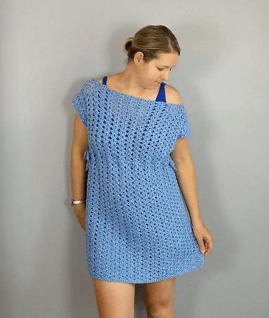 Iris Swim Cover Up Crochet Pattern by Croyden Crochet
