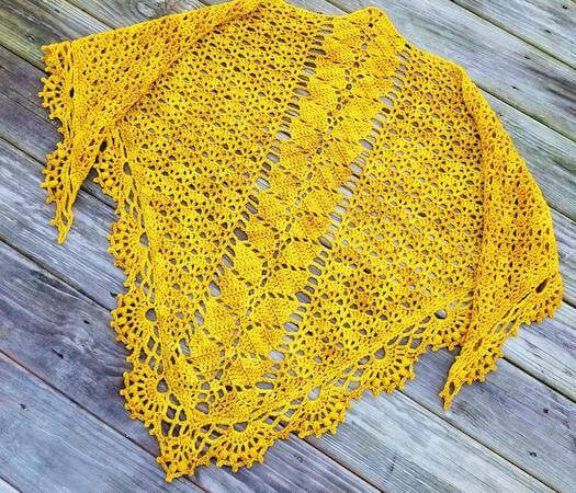 Leaf Shawl Crochet Pattern by Alyse Crochet