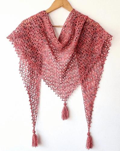 Little Fictions Triangle Shawl Crochet Pattern by Annie Design Crochet