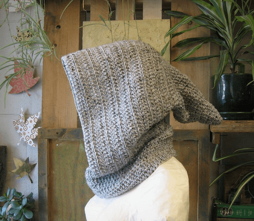 Medieval Archer Hooded Cowl Crochet Pattern by The Mystic Wood
