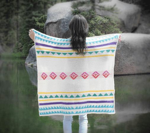 Modern Camp Crochet Blanket Pattern by Mama In A Stitch