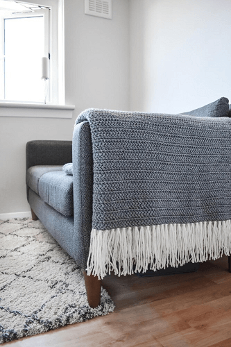 Moon Shadow Crochet Blanket Pattern by Only As Brave