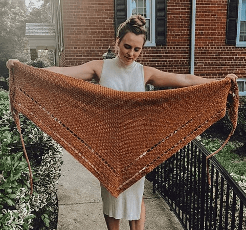 Outlander Inspired Triangle Shawl Crochet Pattern Crab Abble