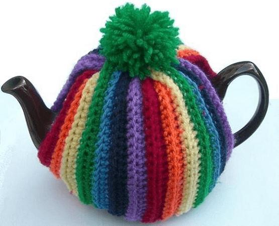 Pom Pom Tea Cosy Crochet Pattern by Clare Blowers Crochet