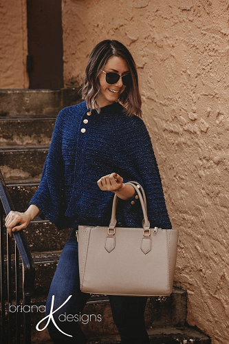 Posh Cape Jacket Crochet Pattern by Briana K Designs