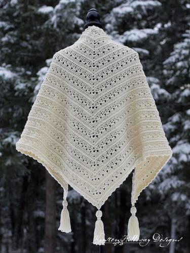 Primrose And Proper Triangle Shawl Crochet Pattern by Kirsten Holloway Designs