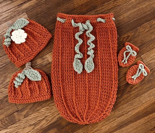Snuggle Sack Crochet Pumpkin Pattern by DAC Crochet