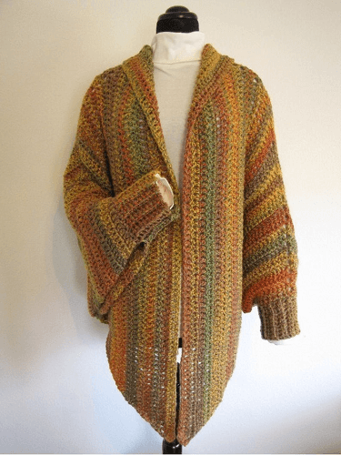 Quick And Easy Cuffed Cape Crochet Pattern by Bella Crochet