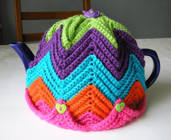 Ripple Crochet Tea Cozy Pattern by Justjen Knits & Stitches