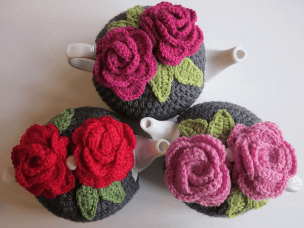 Roses Tea Cozy Crochet Pattern by Why Didn't Anyone Tell Me