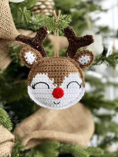 Rudolph Ornament Free Crochet Pattern by Spin A Yarn Crochet