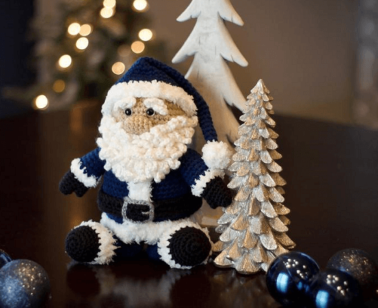 Santa Amigurumi Crochet Pattern by Bri Abby HMA