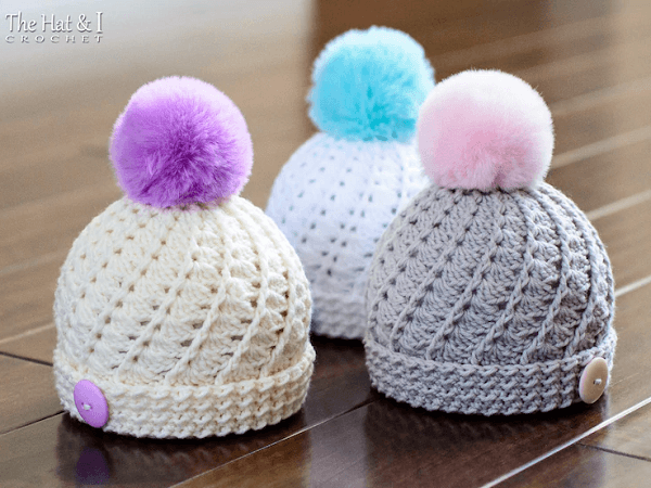 Soft Serve Beanie Crochet Pattern by The Hat And I