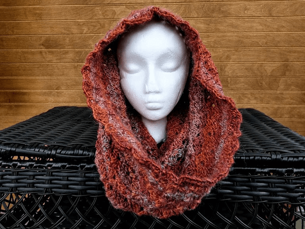 Spice Hooded Cowl Crochet Pattern by Highland Hickory Designs