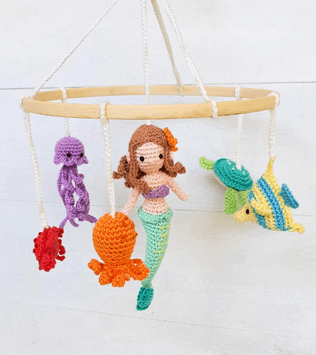 Under The Sea Baby Mobile Crochet Pattern by Birds And Crickets