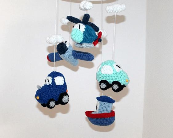 Vehicle Mobile Crochet Pattern by Maschefuer Masche