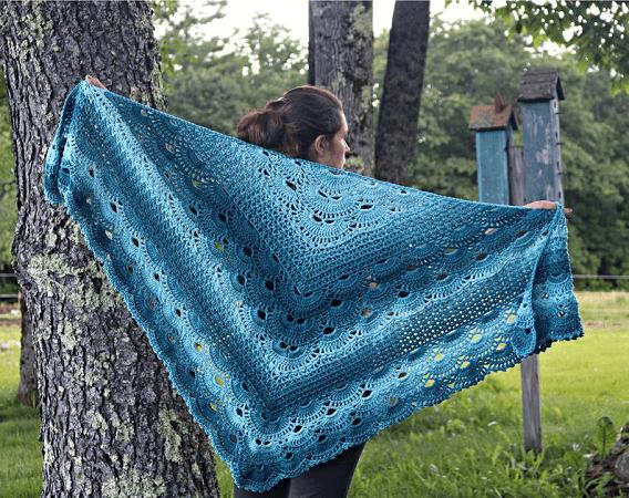 Victoria's German Shells Shawl Crochet Pattern by Jonna Martinez Crochet