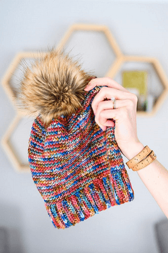Vintage Flannel Beanie Crochet Pattern by Woods And Wool