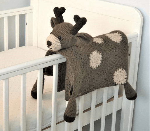 Woodland Deer Baby Blanket Crochet Pattern by Crafting Happiness UK