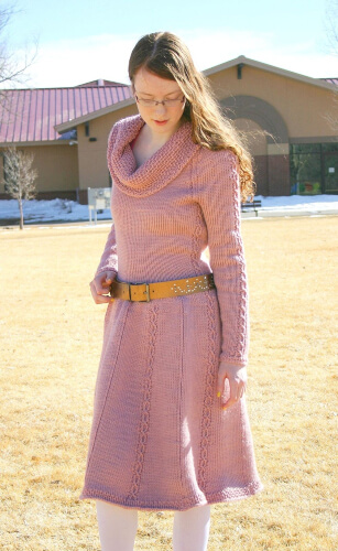 Cabled Tunisian Crochet Dress Pattern by lovinghandscrochet