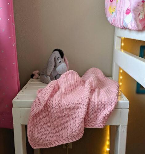 Classic Modern Subtle Ridges Baby Blanket by HotOffHelensHook