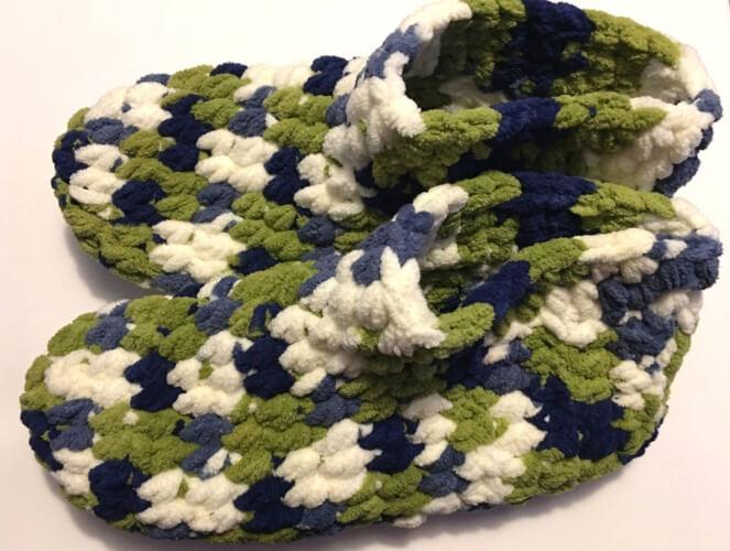 Cozy Mens Crochet Slippers Pattern by FerretysCrafts