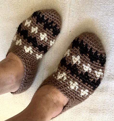 Crochet Bernie Sanders Sock Slipper Pattern from NewPurposeGifts