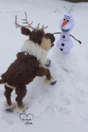 Crochet Olaf Amigurumi and Crochet Frozen Deer Toy Pattern by PatternsByPortik