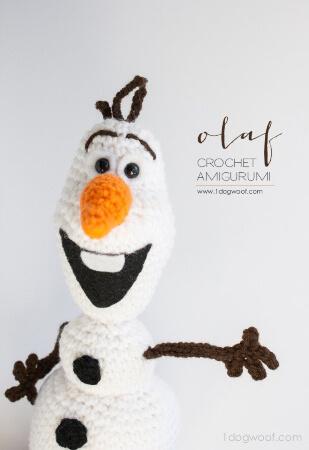 Crochet Olaf from Frozen Amigurumi Pattern by ChiWei