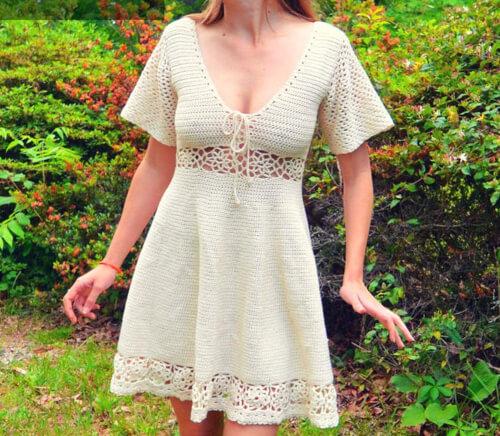 Crochet Sun Dress Pattern by MermaidcatDesigns