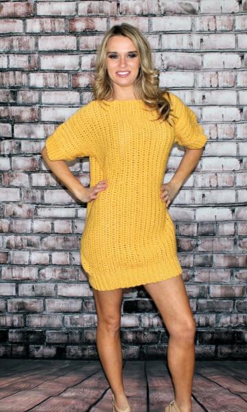 Crochet Vertical Sweater Dress Pattern by CrochetPatterns
