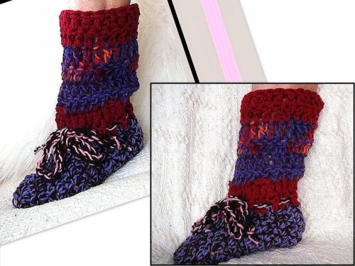 Easy Crochet Slippers Mens Pattern by Hectanooga