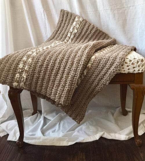 Easy Modern Crochet Afghan Pattern from SimpleThingsByTia
