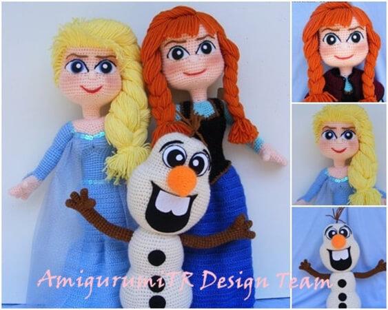 Frozen Amigurumi Crochet Pattern by AmigurumiTRDesignTeam