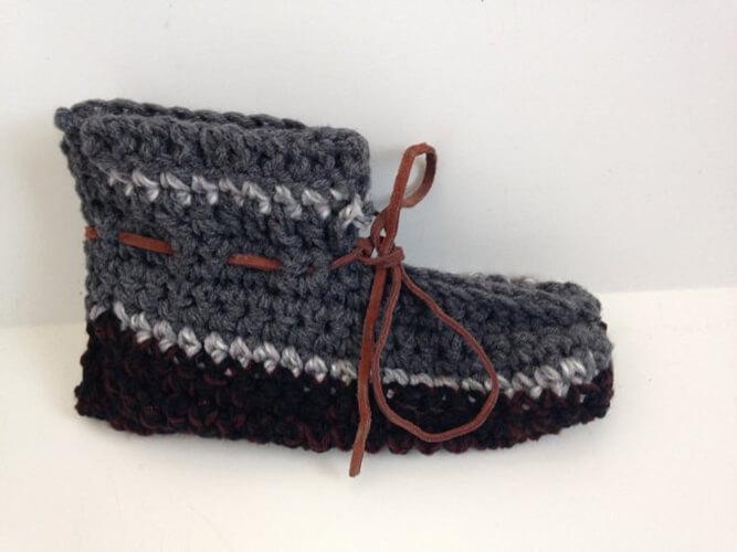 Mens Crochet Slippers Pattern from EdwardsPrintables