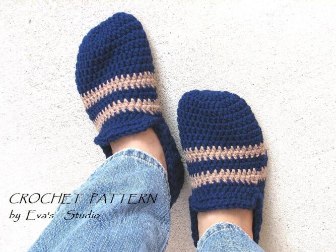 Mens Crochet Slippers by EvasStudio