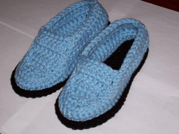 Moccasin Crochet Slippers Mens Pattern by Sues Crochet and Knitting